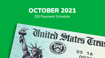 SSI Social Security Benefits Payment Schedule: October 2021